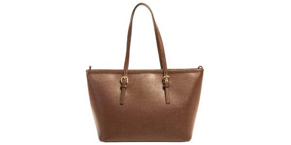 Dámska tmavo hnedá kabelka z kože Joana and Paola