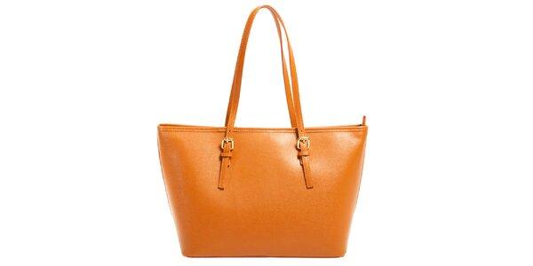 Dámska oranžová kabelka z kože Joana and Paola