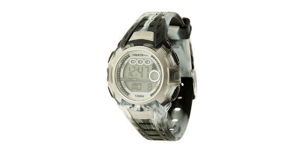 Unisexové šedé digitálne hodinky RG512
