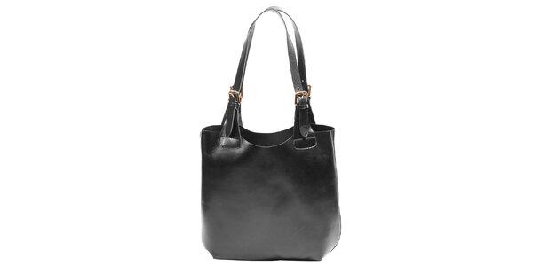 Dámska kožená kabelka v čierna farbe Joana and Paola