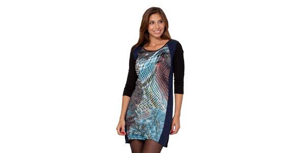 Dámske šaty s pestrým vzorom na prednej strane Janis