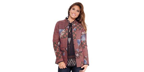 Dámsky farebný kabátik s gombíkmi Janis