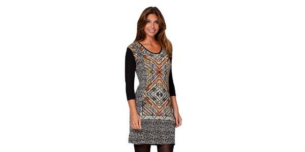 Dámske vzorované šaty s 3/4 rukávmi Janis