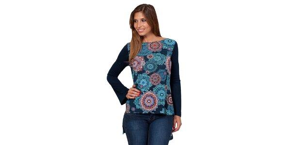 Dámske vzorované tričko s odhaleným chrbátom Janis