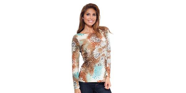 Dámske vzorované tričko s dlhým rukávom Janis