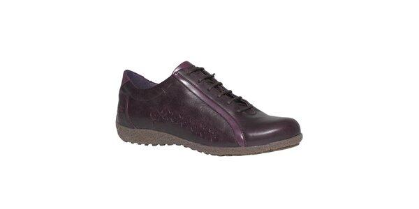 Dámske tmavo fialové topánky TBS