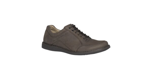 Pánske kožené šnurovacie topánky TBS - hnedé
