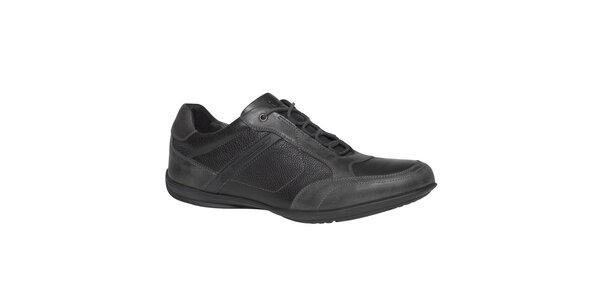 Pánske šedo-čierne šnurovacie topánky TBS