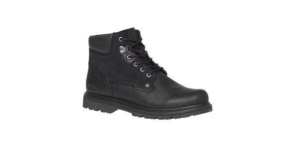 Pánske čierne členkové topánky so šnúrkami TBS