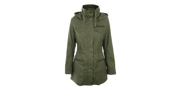 Dámsky olivový krátky kabát Halifax