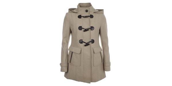 Dámsky béžový kabát Halifax