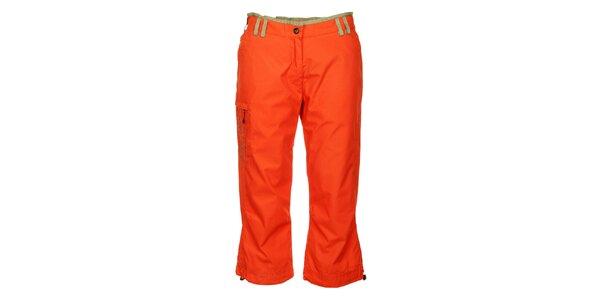 Dámske sýto oranžové 3/4 nohavice Hannah