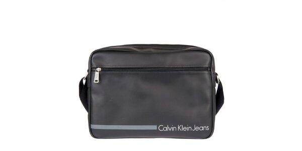 Pánska čierna taška cez rameno s vonkajším vreckom Calvin Klein Jeans