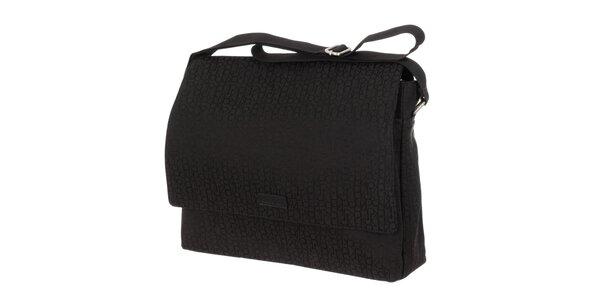 Pánska čierna vzorovaná taška Calvin Klein
