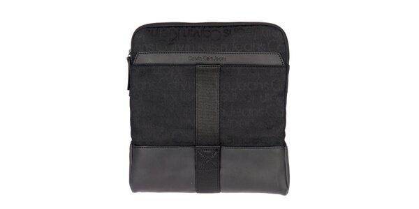 Pánska čierna látková taška Calvin Klein