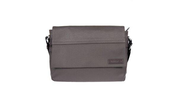 Pánska šedohnedá obdĺžniková taška cez rameno Calvin Klein