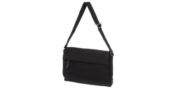 Pánska čierna látková taška cez rameno Calvin Klein