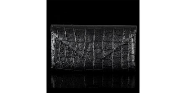 Dámska vzorovaná čierna listová kabelka Felice