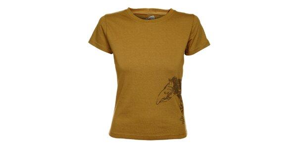 Dámske svetlo hnedé tričko Hannah