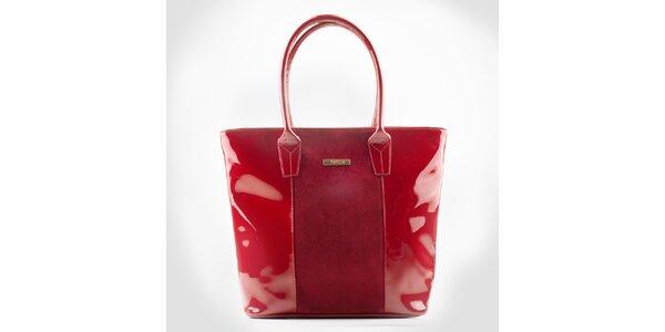 Dámska červená zošívaná kabelka Felice