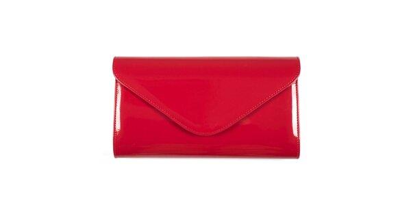 Dámska červená listová kabelka Felice