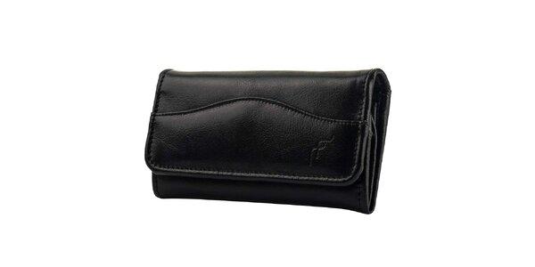 Dámska čierna kožená peňaženka Felice