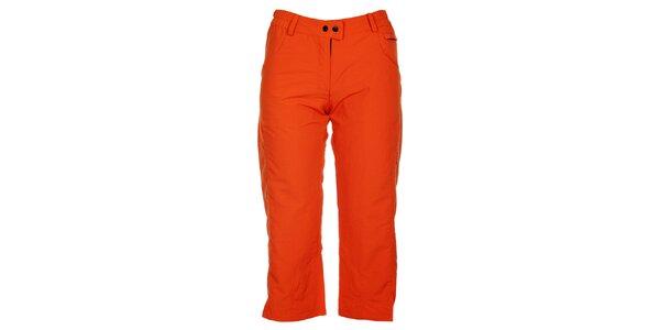 Dámske oranžové 3/4 nohavice Hannah