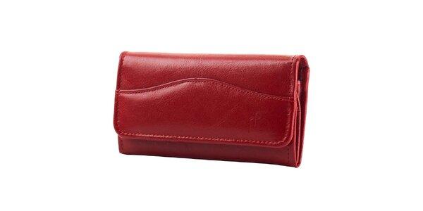 Dámska červená kožená peňaženka Felice