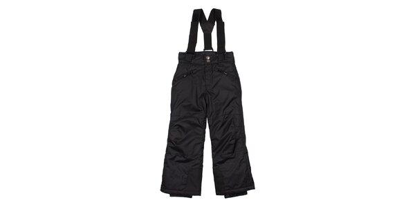 Detské čierne lyžiarske nohavice Utopik