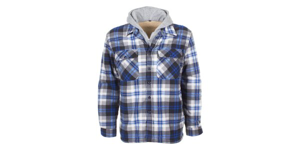 Pánska fleecová košeľa s kapucňou E2ko