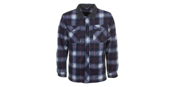 Pánska kockovaná košeľa s dlhým rukávom E2ko