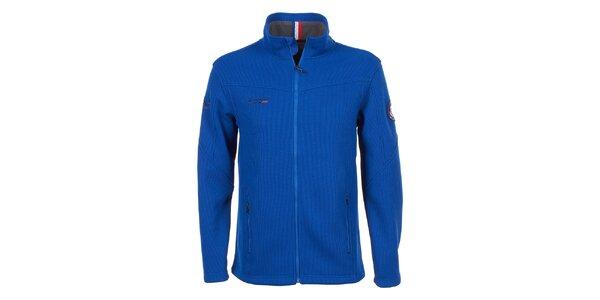 Pánska modrá bunda s fleecom E2ko