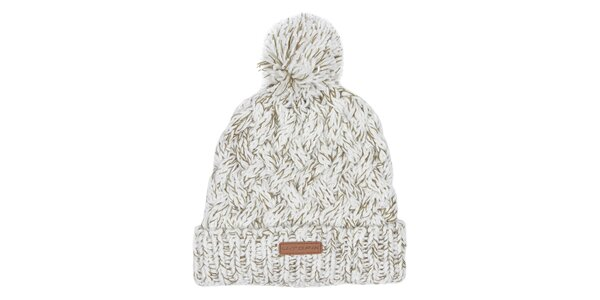 Pánska biela čiapka s brmbolcom Utopik