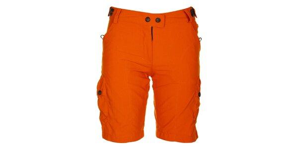 Dámske oranžové šortky Hannah