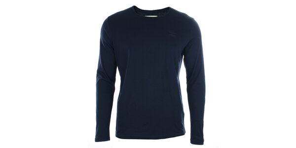Pánske tmavomodré tričko s dlhým rukávom Timeout