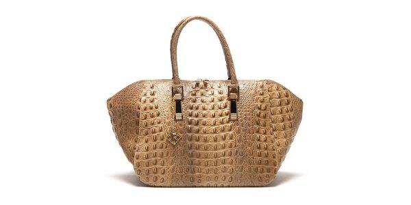 Dámska tmavo béžová kabelka s plastickým vzorom Isabella Rhea
