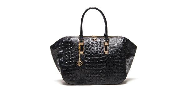Dámska čierna kabelka s plastickým vzorom Isabella Rhea