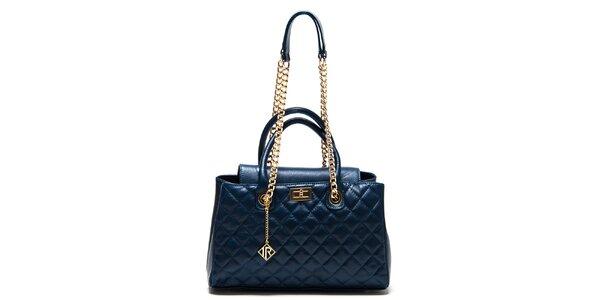 Dámska modrá kabelka s prešívaním Isabella Rhea