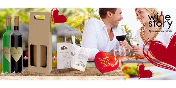 1-2 fľaše kvalitného vína so srdcovitou etiketou