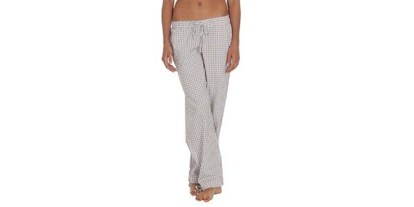 Dámske svetlé kárované pyžamové nohavice Tommy Hilfiger
