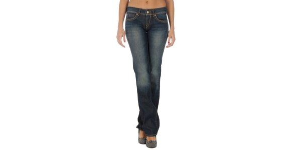 Dámske tmavo modré džínsy s vyšívanými vreckami Tommy Hilfiger