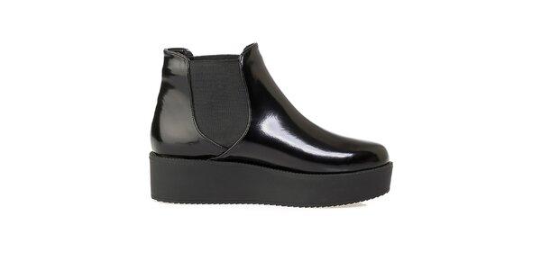 Dámske čierne chelsea topánky na platforme Crash Shoes