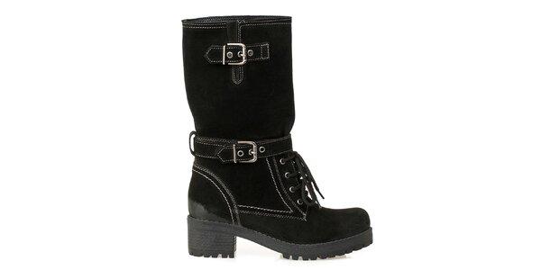 Dámske čižmy-farmárky v čiernej farby Crash Shoes