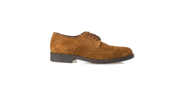 Pánske pieskové kožené oxfordky Crash Shoes