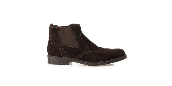 Pánske hnedé chelsea topánky Crash Shoes