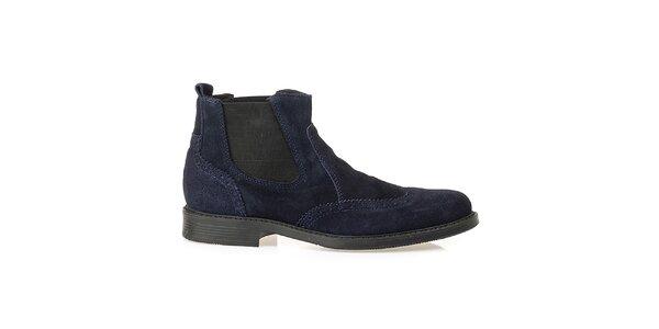 Pánske modré chelsea topánky Crash Shoes