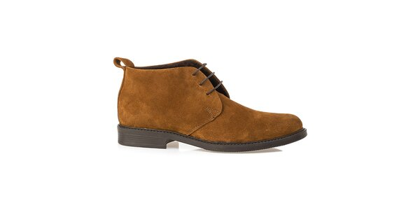 Pánske pieskové kožené poltopánky Crash Shoes