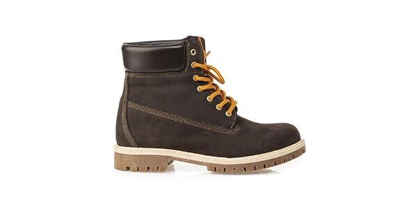 Pánske hnedé farmárky Crash Shoes
