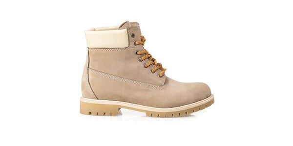 Pánske béžové farmárky Crash Shoes