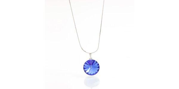 Dámsky náhrdelník s modrým kryštálom Laura Bruni